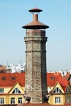 Octagonal stack of Vinohrady brewery. Octagones are used frequently for ventilation of malt-houses.